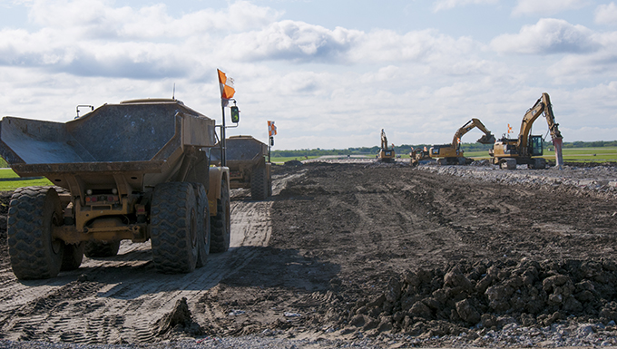 Runway construction paves way for future flight